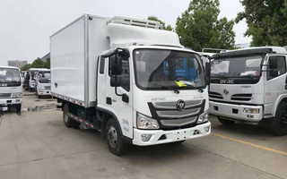 福田欧马可S3宽体4.2米海鲜运输冷藏车