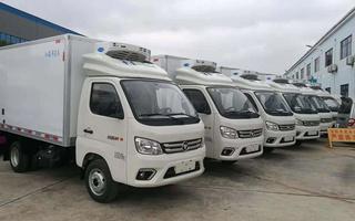 国六福田M1海鲜运输车 3.2米冷藏车价格