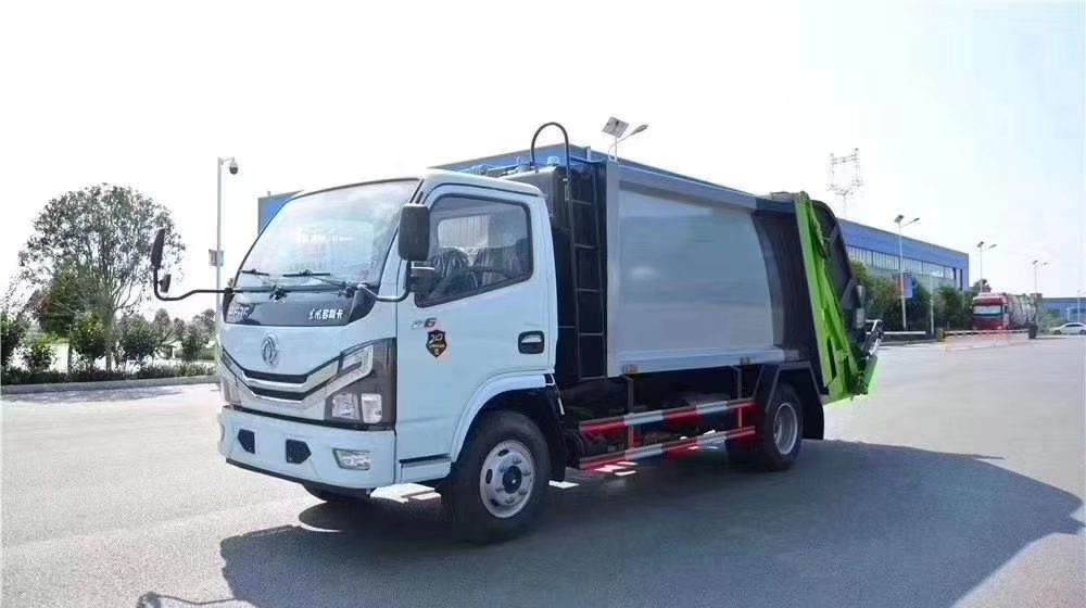 国六东风多利卡六方压缩垃圾车图片