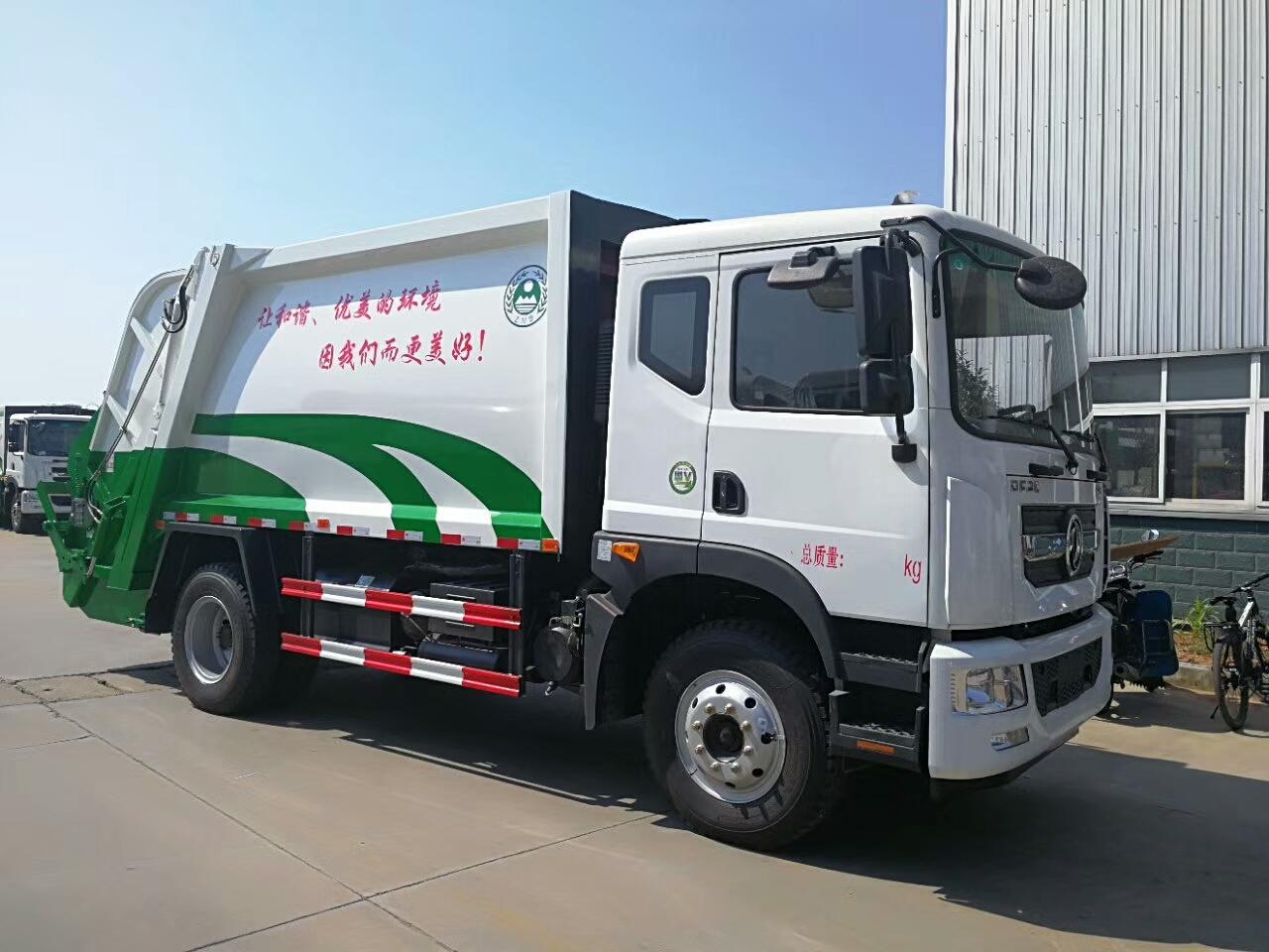 国五东风D9 10~12方压缩式垃圾车图片