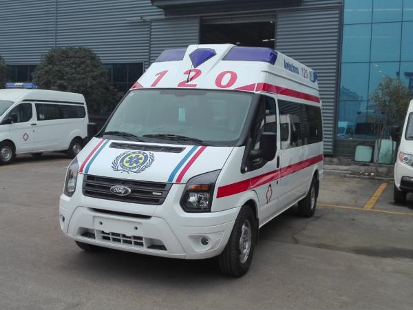 厂家直销江铃福特新世代V348长轴救护车报价视频