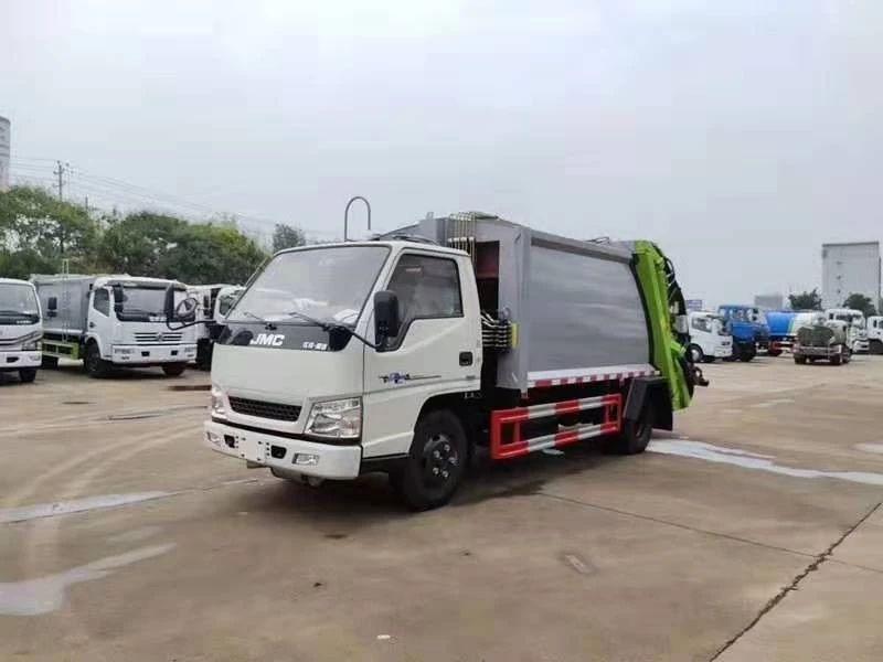 江鈴6方后裝壓縮式垃圾車實拍圖片圖片