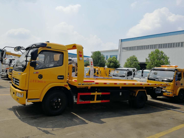 东风D8系列一拖二清障车,4.4米轴距,玉柴150马力,六档箱,断气刹视频