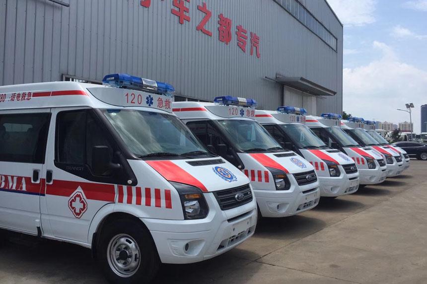 國六江鈴福特V348短軸救護車(柴油)