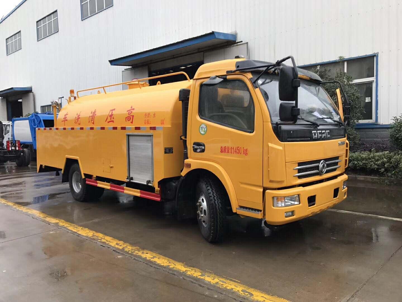 国五8方高压清洗车发往广西