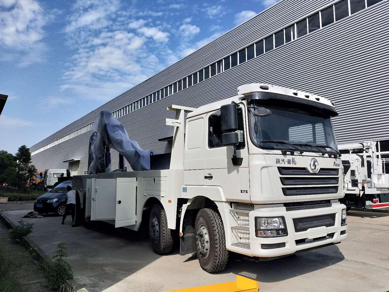 拖车救援神器陕汽德龙前四后八重型救援拖车375马力图片