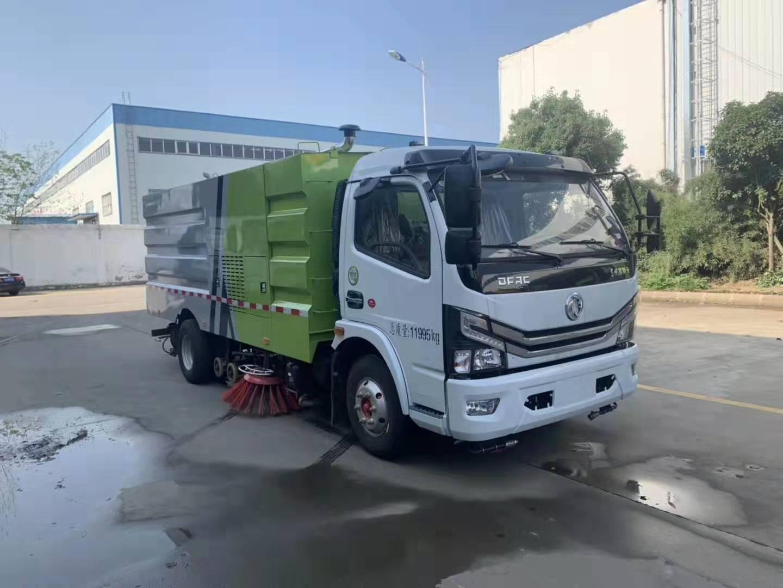 東風國六洗掃車視頻