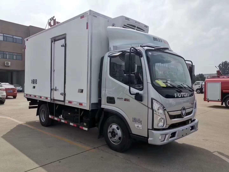 福田蓝牌4.2米厢体冷藏车厂家最新价格图片