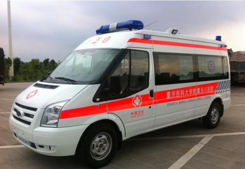 福特V348长轴高顶监护型救护车