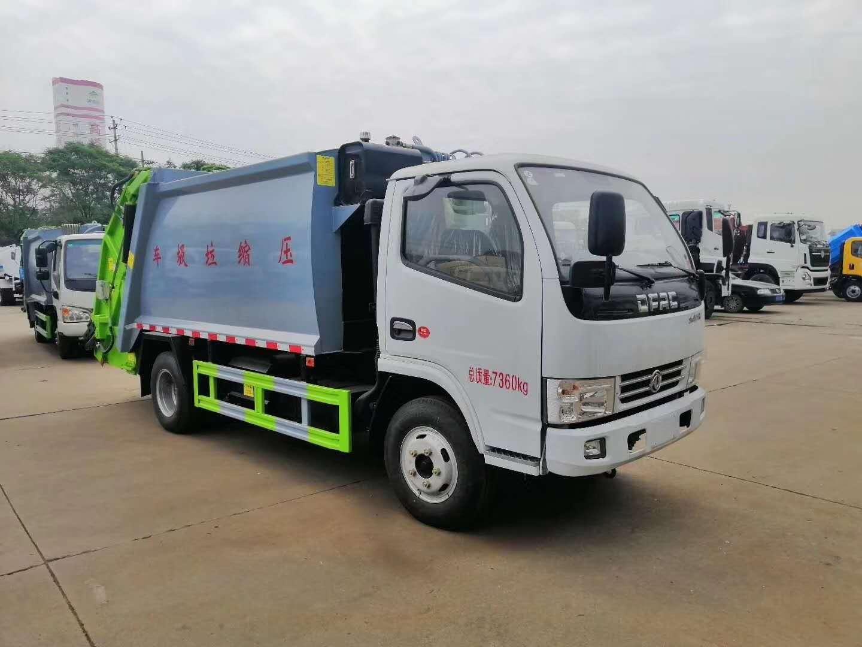 国五6立方后装密封压缩垃圾运输车专业定制厂家图片