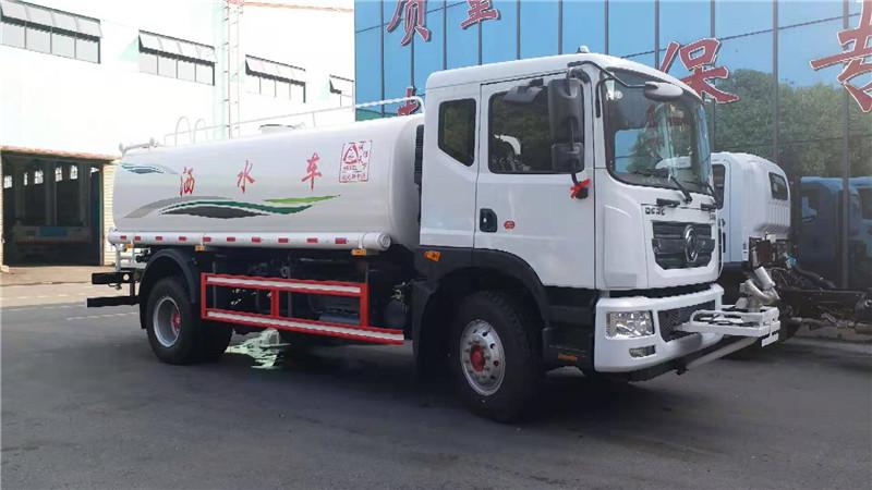 新中綠東風12噸灑水車視頻 12噸灑水車廠家