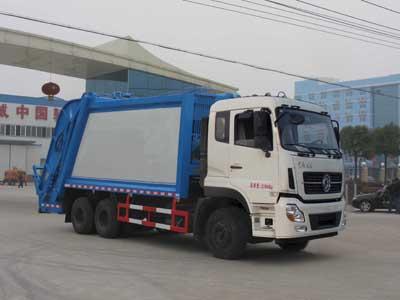 东风天龙16立方压缩式垃圾车