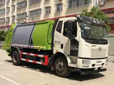 解放12立方压缩式垃圾车