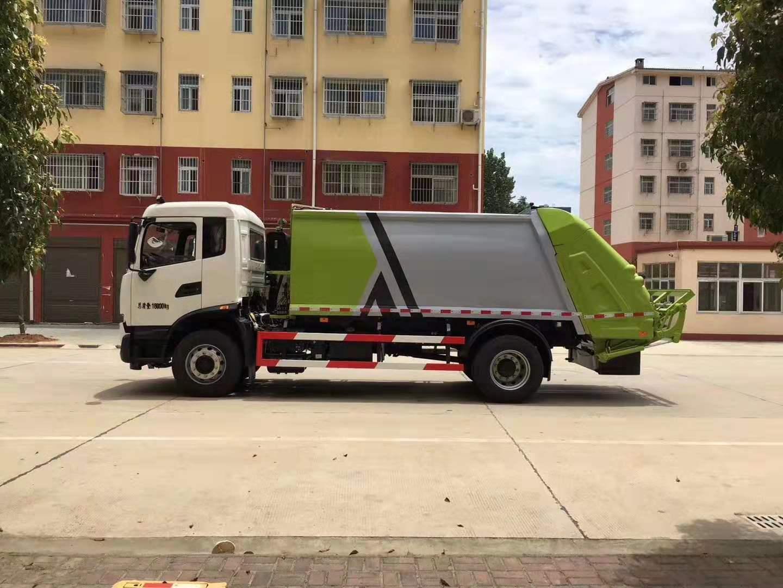 东风天锦12立方压缩式垃圾车_高清图片