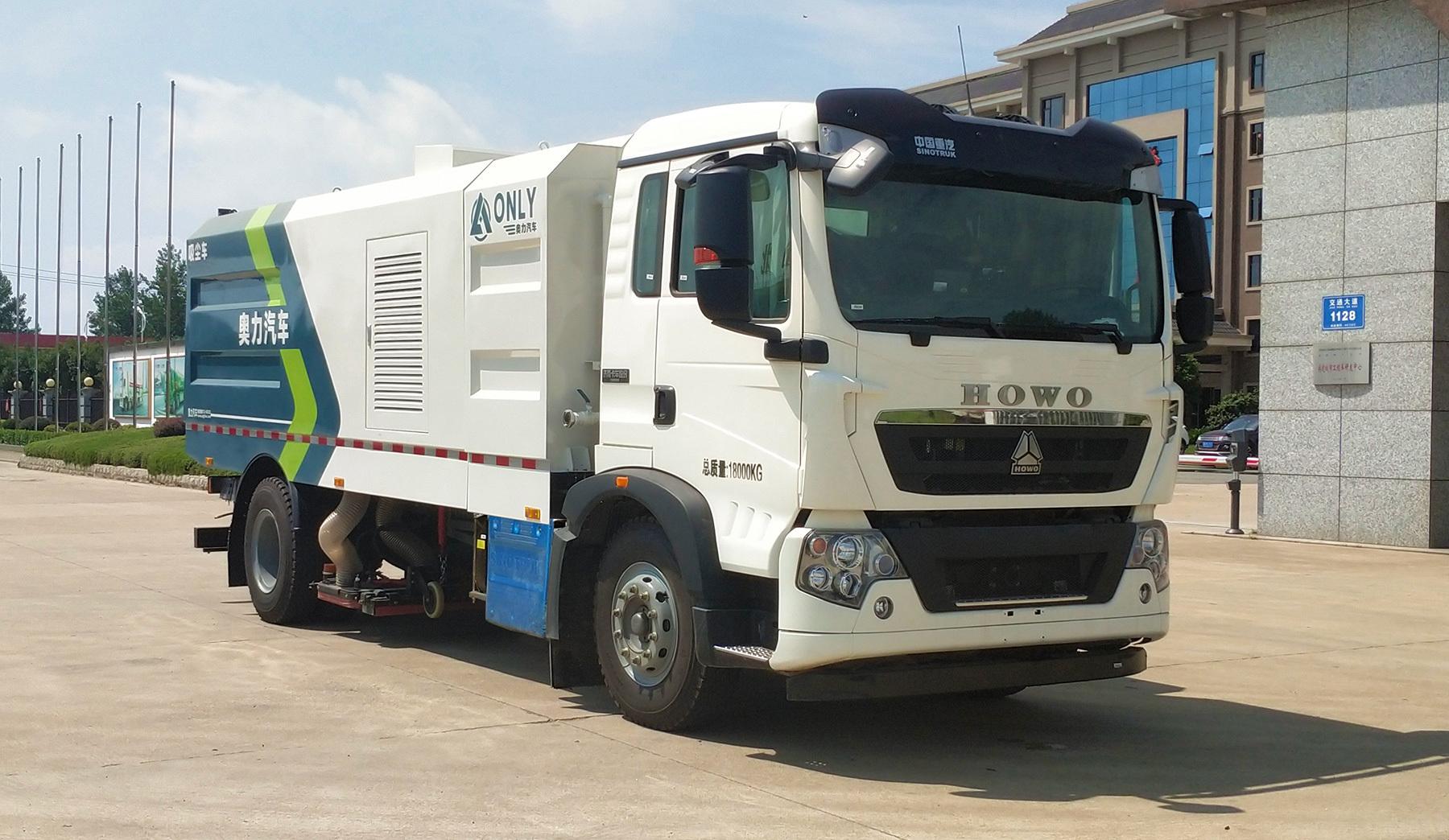 重汽T5G吸尘车方位展示图图片