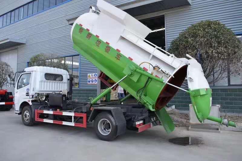 6方餐厨垃圾车带干湿分离厂家最新价格