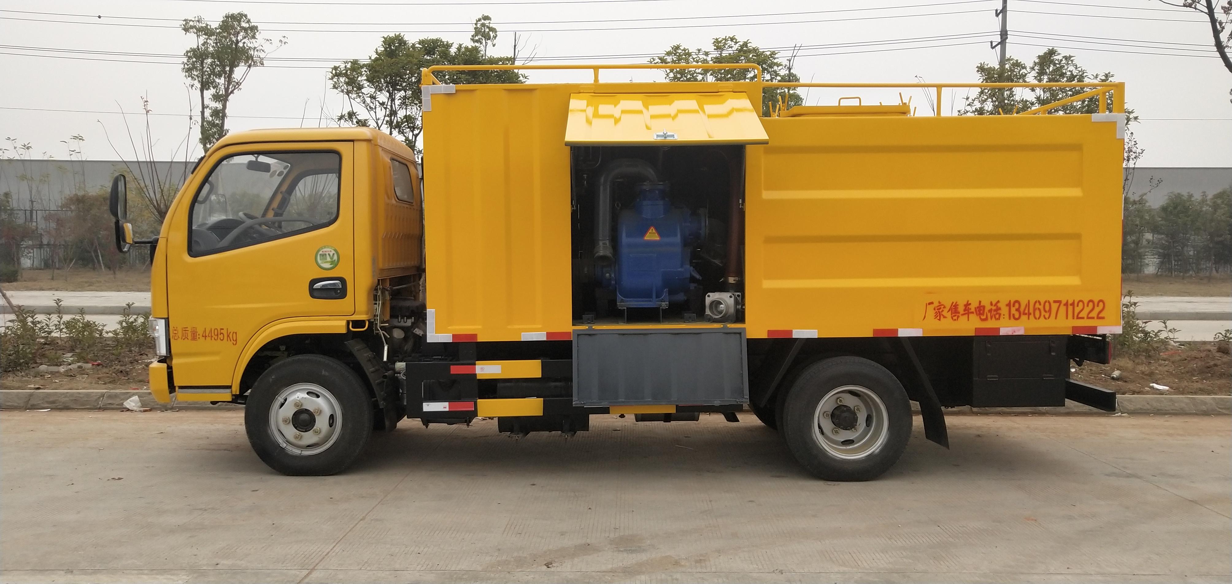 多利卡6方污水处理车,整车高度不超2.2图片