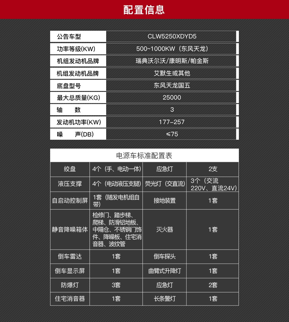东风天龙应急电源车销售15271321777