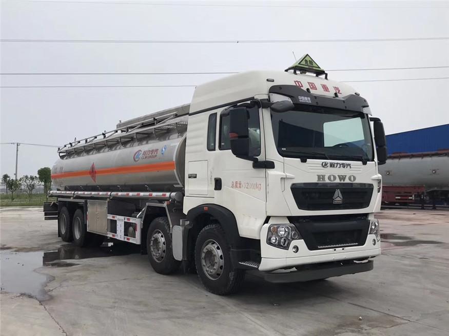 豪沃20吨铝合金油罐车(汽油)图片