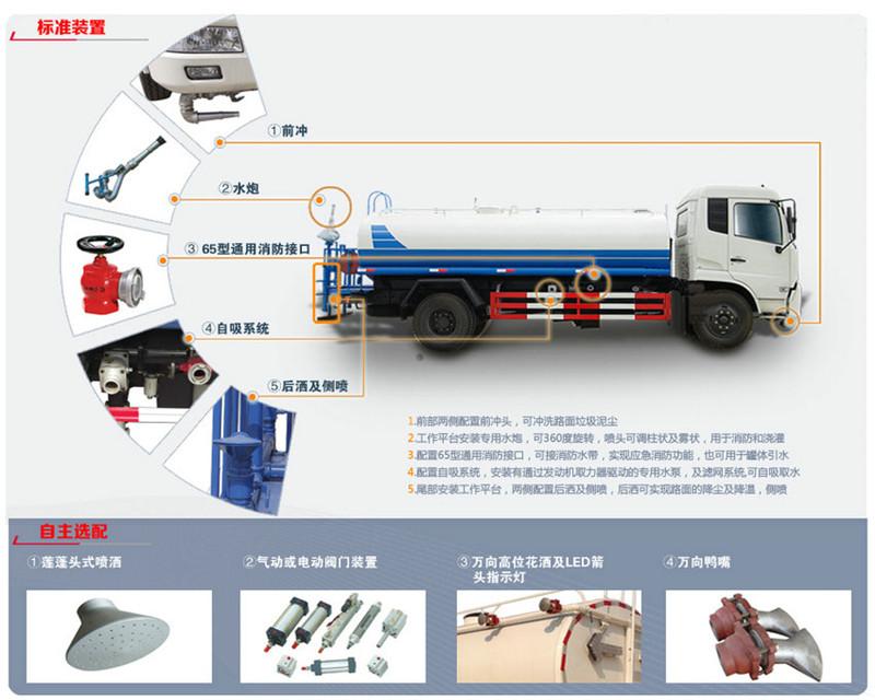 8.5吨东风多利卡洒水车园林绿化喷洒车(图5)