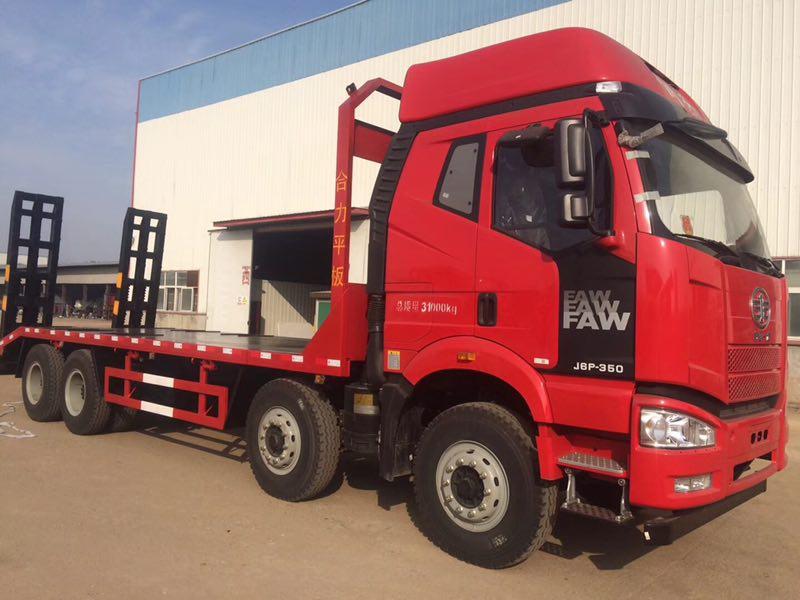 15噸挖機平板拖車-解放J6拖車中的大馬力出廠價