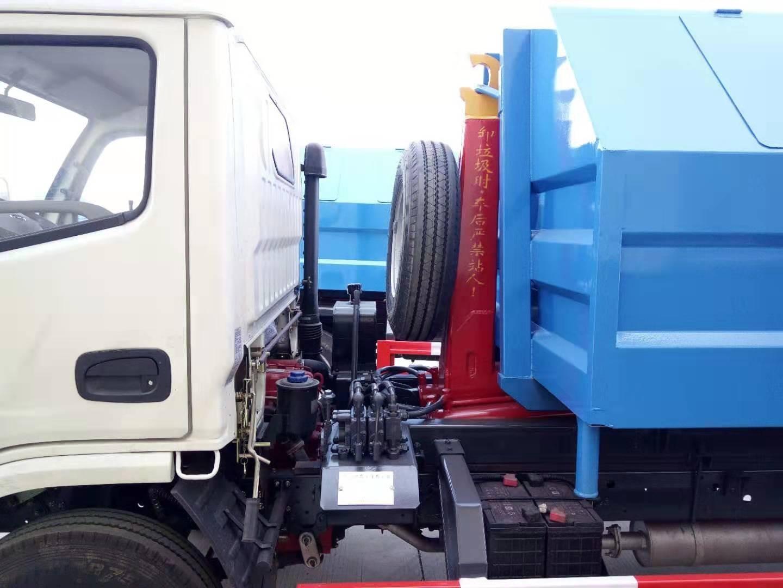 市政环卫小型5方勾臂垃圾车采购最多车型蓝牌5方勾臂垃圾车图片