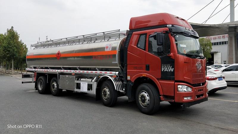 核載20噸一汽解放J6前四后六280馬力鋁合金運油車