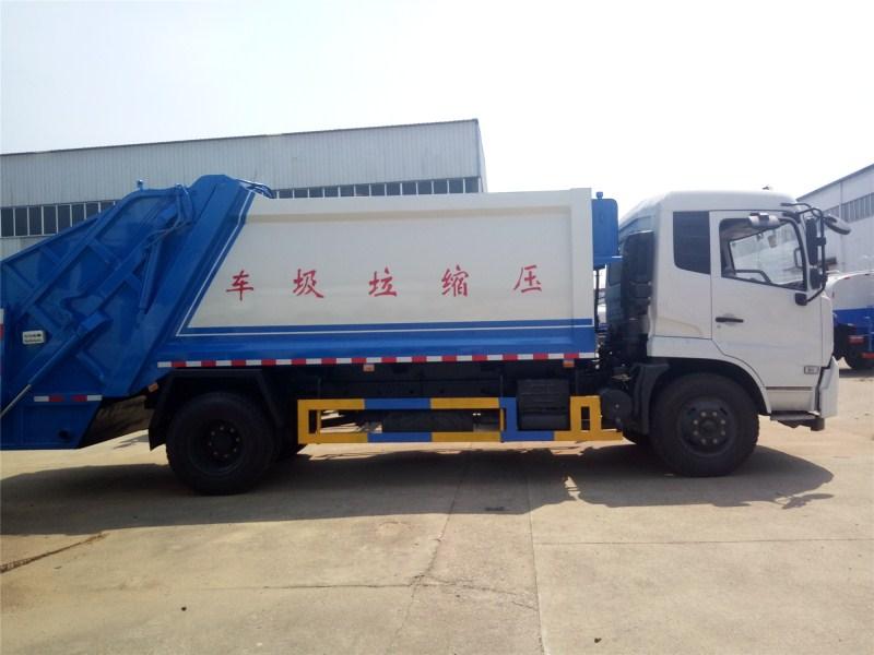 東風天錦14方后裝式壓縮垃圾車 國五壓縮式垃圾車圖片圖片