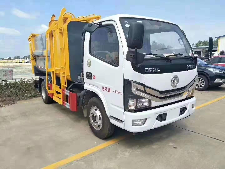 国六东风多利卡5方自装卸式垃圾车介绍及说明