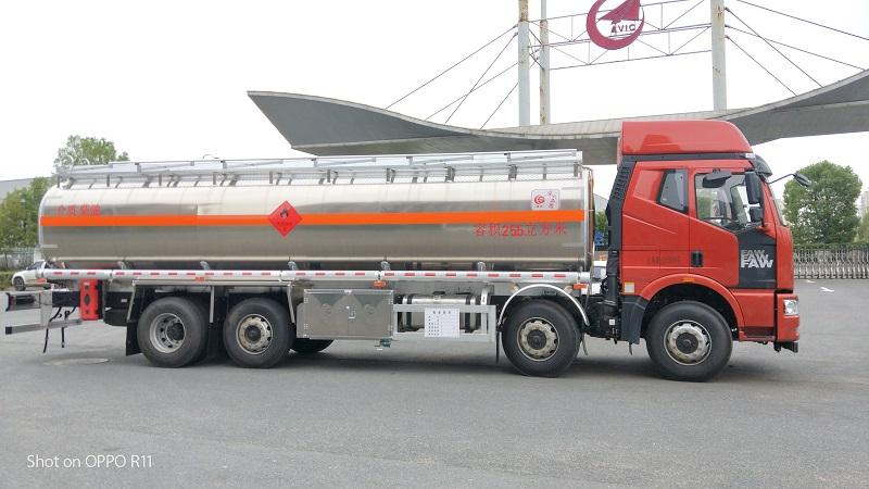 解放J6鋁合金25.5立方運油車技術參數廠家圖片視頻