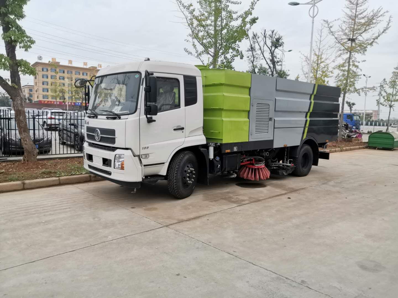 東風天錦16噸洗掃車,全新下線視頻