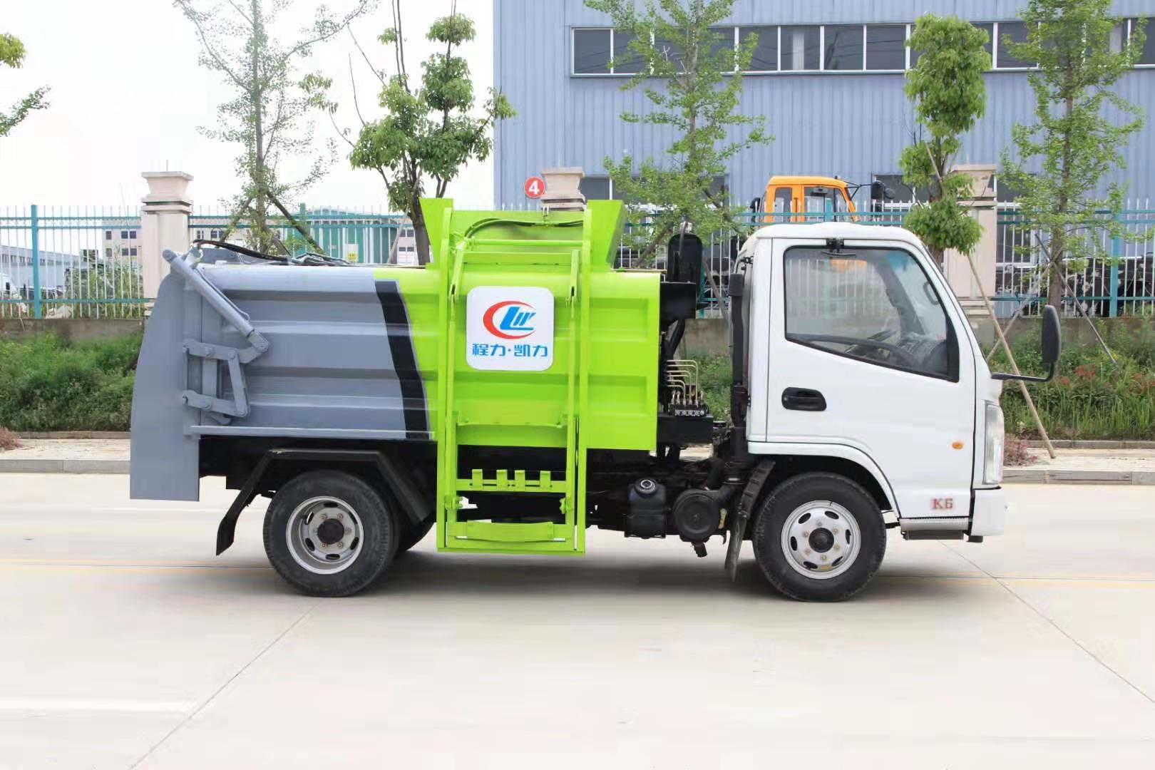 國六藍牌凱馬餐廚垃圾車圖片圖片