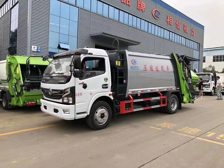 東風國六8方后裝式壓縮垃圾車圖片