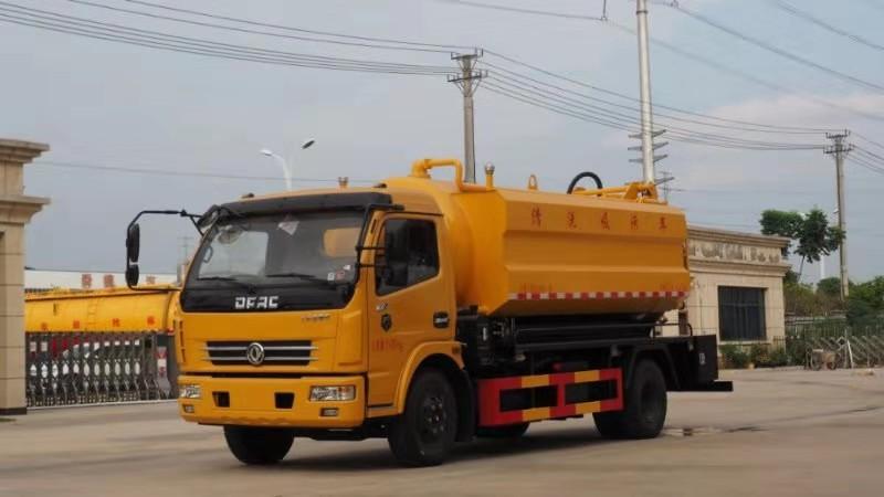 10立方清洗吸污車廠家東風多利卡清洗吸污車配置圖片