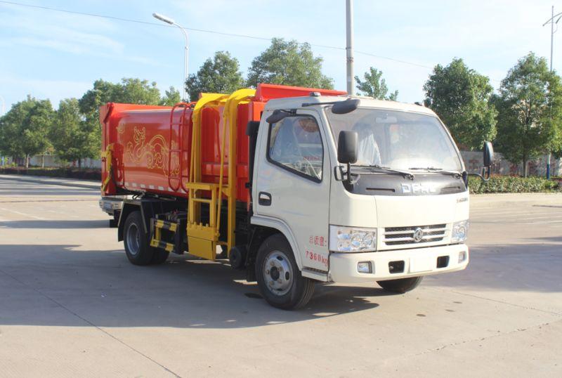 东风5方挂桶垃圾车自装卸式垃圾车图片/价格图片