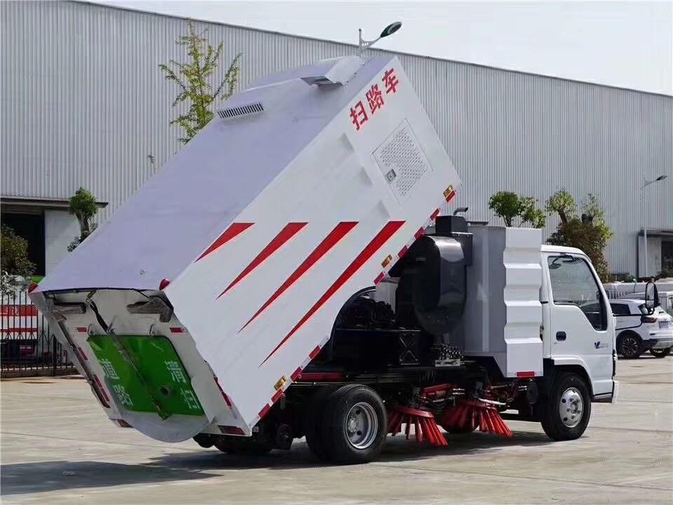 大多利卡洗扫车功能展示视频(二)  前喷,万向路沿冲洗