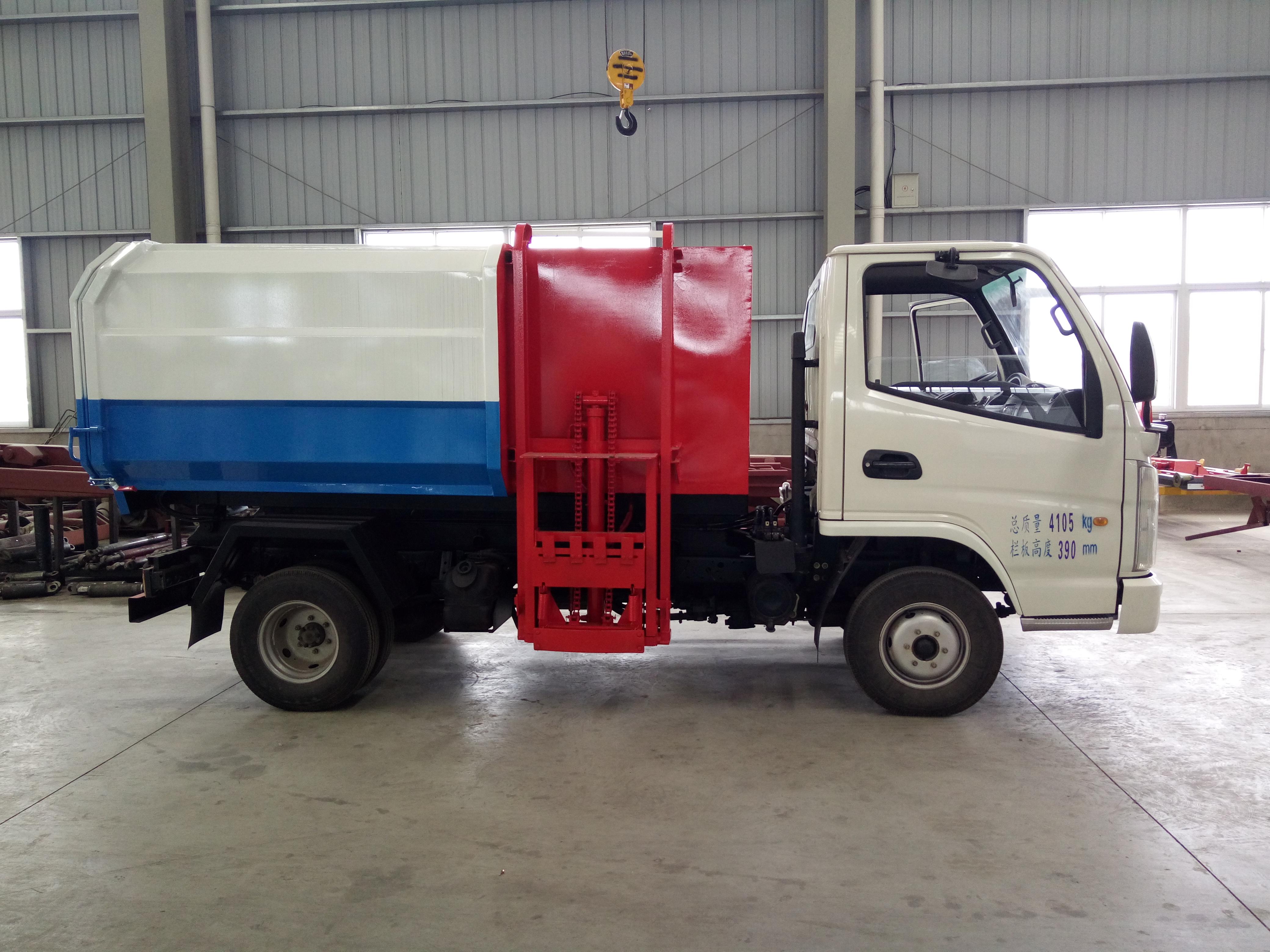 自装卸式垃圾车挂桶垃圾车厂家图片
