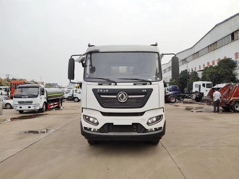 (国六-CNG)东风天锦(天然气)12方压缩式垃圾车厂家