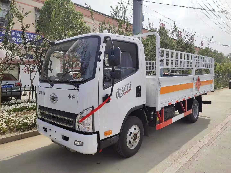 解放虎V蓝牌气瓶运输车(整车不超重)图片