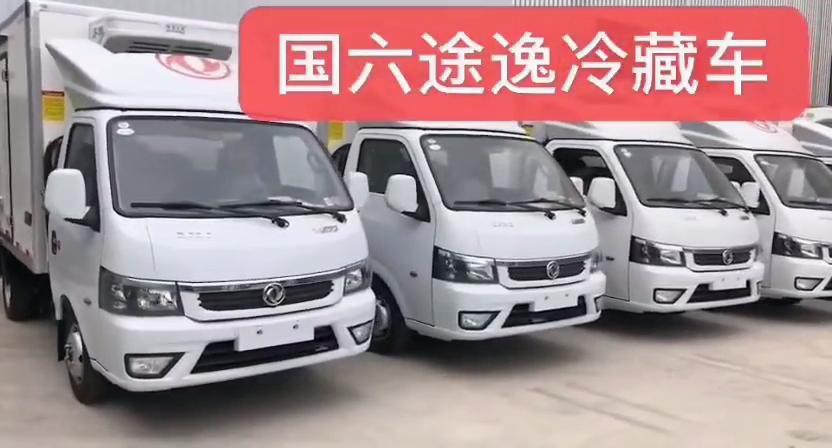 国六小型蓝牌东风途逸冷藏车视频