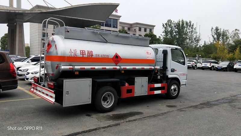 三类东风5吨甲醇易燃液体罐式运输车罐式运输车视频视频