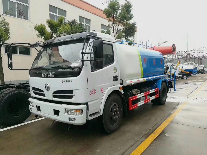 东风5吨洒水车配30米雾炮机组图片