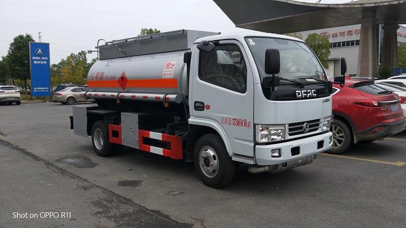 跳楼价 三类东风5吨甲醇易燃液体罐式运输车配置 视频视频