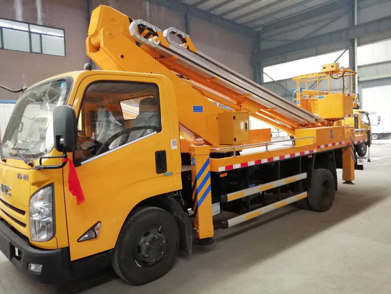 江鈴國六藍牌22米伸縮臂高空作業車