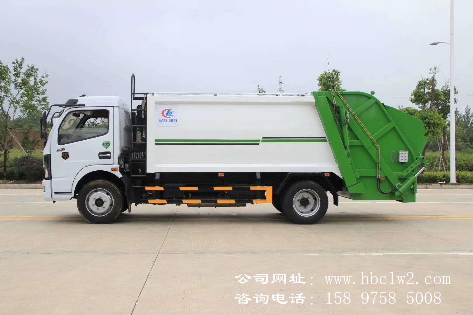 国六东风凯普特8方压缩式垃圾车图片