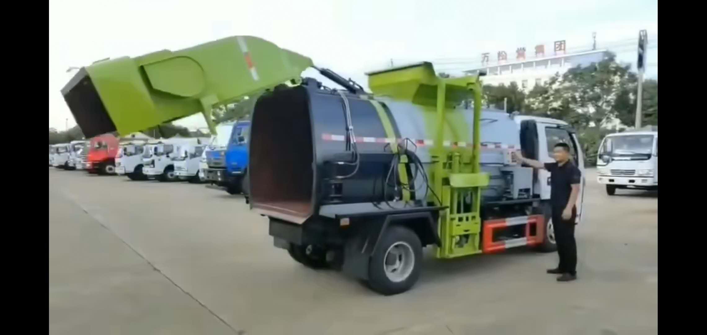 東風D6多利卡5噸餐廚垃圾車視頻