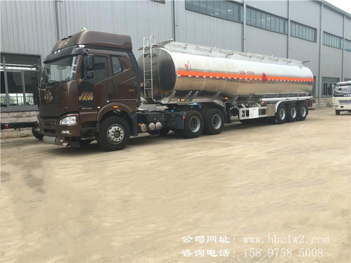 33吨半挂油罐车价格图片