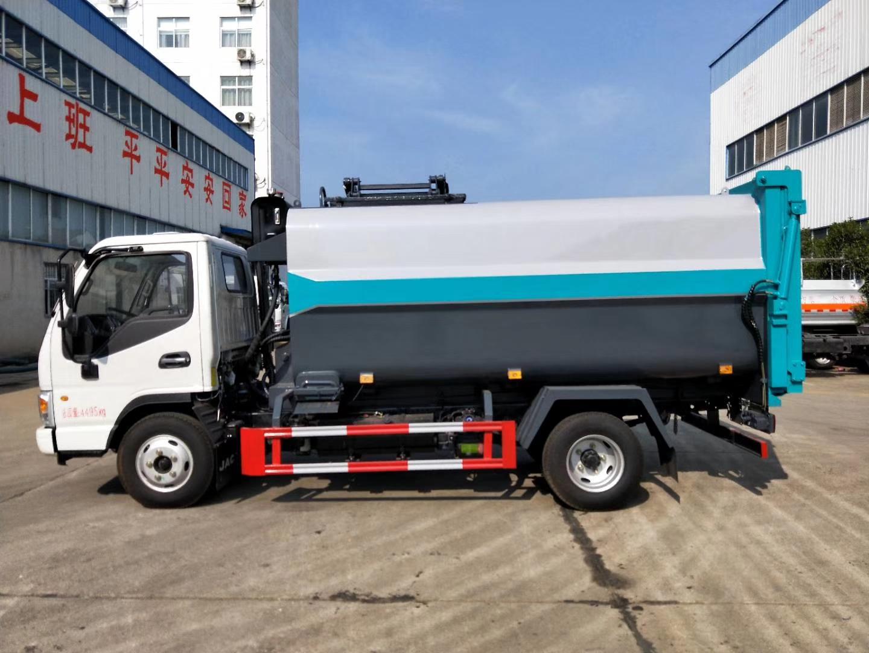 江淮7-8立方侧装挂桶压缩垃圾车图片