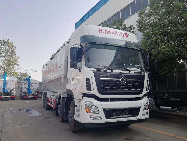 大型饲料加工厂专用——天龙40方散装饲料运输车图片