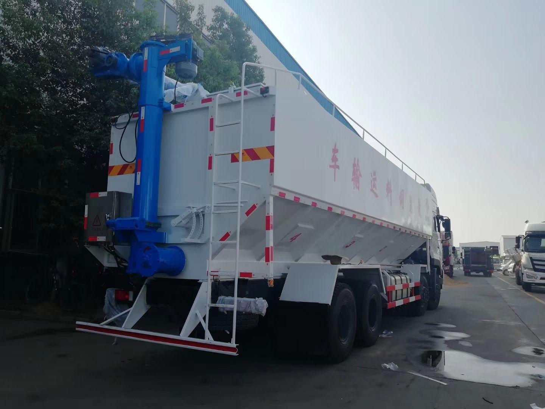 东风天龙高顶双卧(40方/20吨)电动散装饲料运输车图片